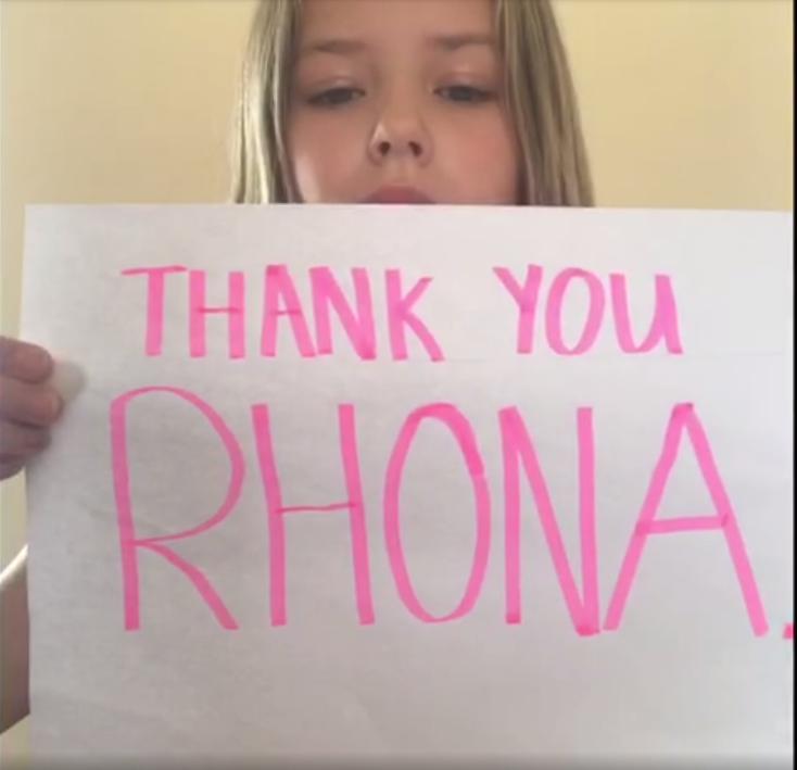 Cara's Thank You to Rhona